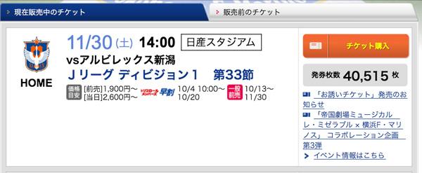 チケット発券枚数定点観測まとめ(2013/11/30