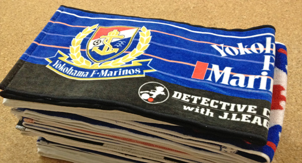 更新情報:2011年シーズンの横浜F・マリノスのタオルマフラーをブログで並べてみた。
