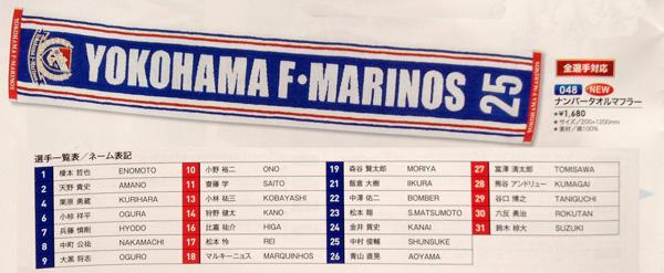 更新情報:2012年シーズンの横浜F・マリノスのタオルマフラーをブログで並べてみた。