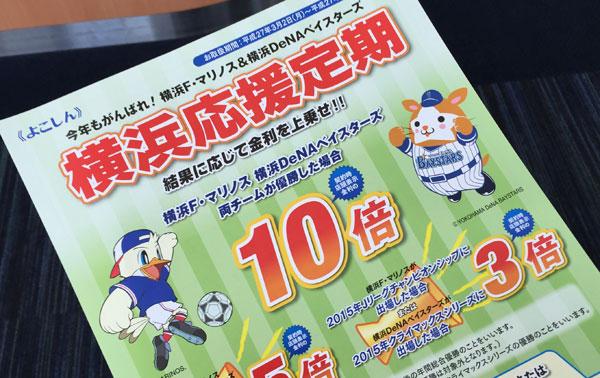 横浜信用金庫「横浜応援定期」2015…を契約してきた。