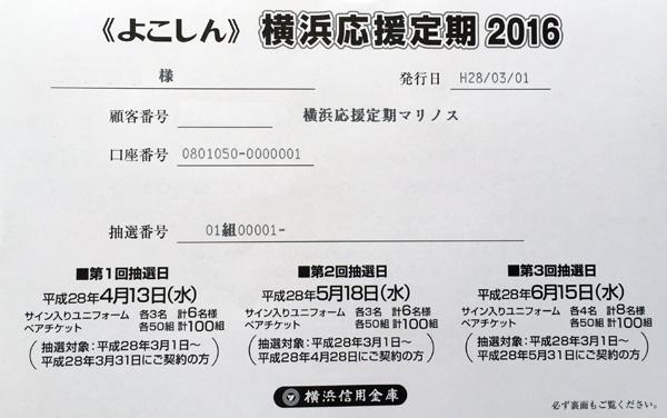 横浜信用金庫「横浜応援定期2015」…を契約してきた。