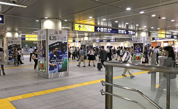 今週の「横浜駅みなみ西口」のプロモーションポスターまとめ(第16節 ヴィッセル神戸戦)