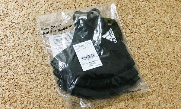 買って満足じゃない、adidasマスク(adidas FACE COVER)の洗濯表示タグをキレイに取ってキッチリ飛沫防止を。